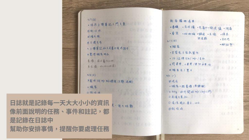 子彈筆記入門-日誌