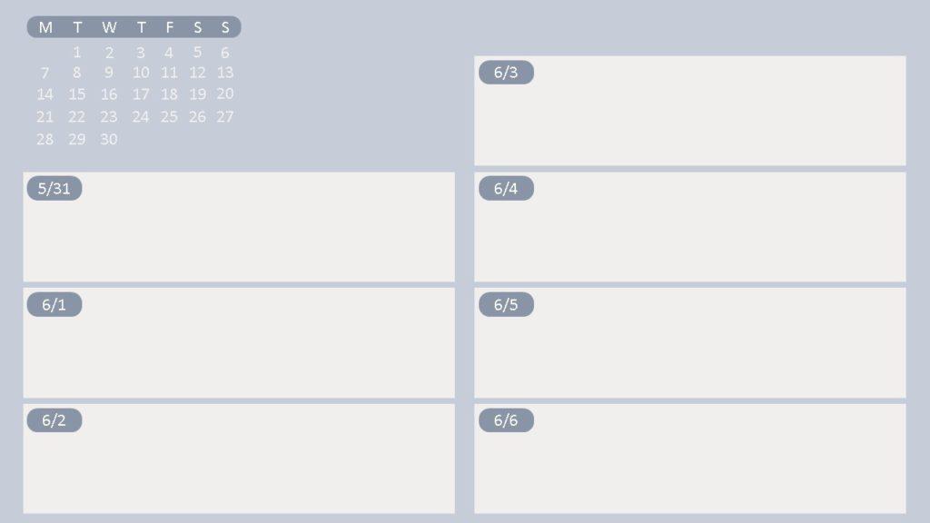 2021年6月子彈筆記設計-日誌
