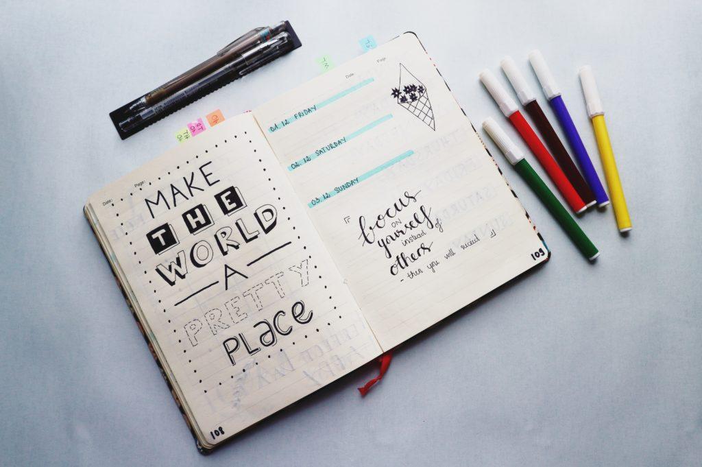 精美、漂亮的子彈筆記