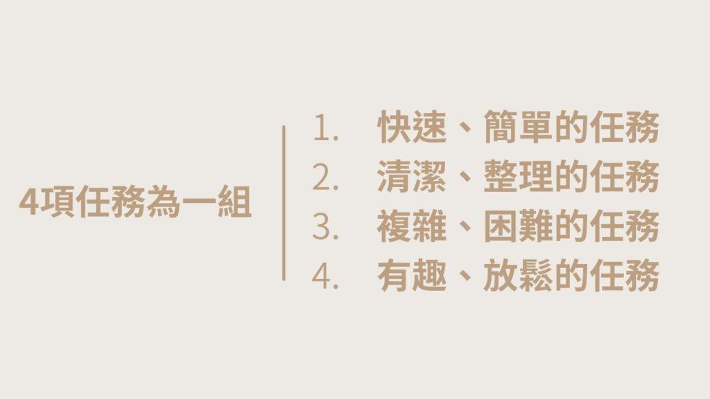 1-2-3-4時間管理_任務組合